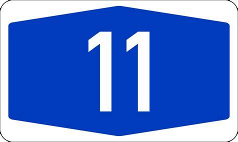 Bundesautobahn 11 Number.svg
