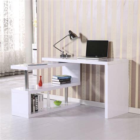Office Furniture Yeadon by Homcom High Gloss Computer Pc Desk Storage Display Shelf