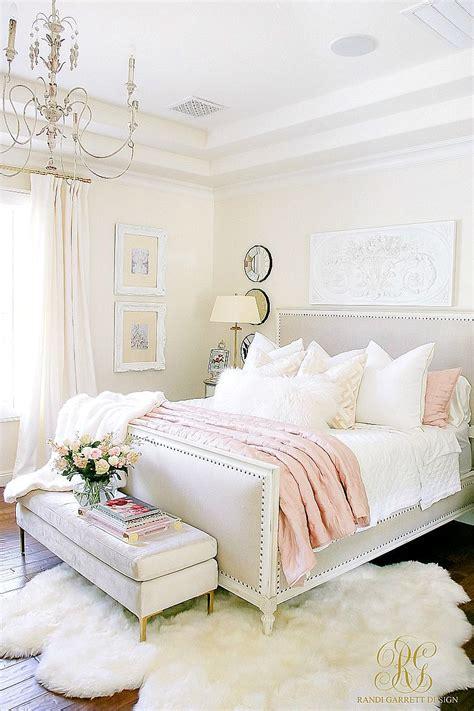 glam blush gold spring bedroom boudoir bedroom decor