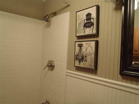 Beadboard Ceiling In Bathroom : Interesting White Vinyl Wainscoting Panels For Bathroom