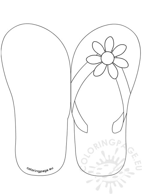 flip flop invitation template coloring page