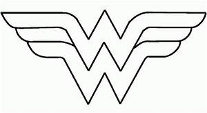 How To Draw Wonder Woman Logo - Coloring Home
