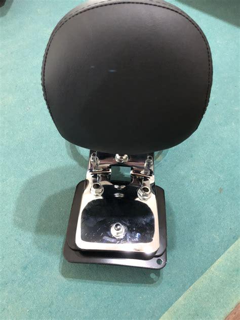 softail deuce chrome passenger backrest  luggage rack harley davidson forums