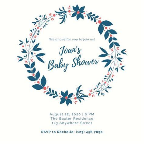 customize  baby shower invitation templates  canva
