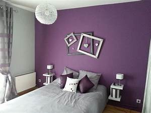 decoration de chambre avec couleur prune super deco With lovely mur couleur taupe clair 15 photos deco chambre fille rose