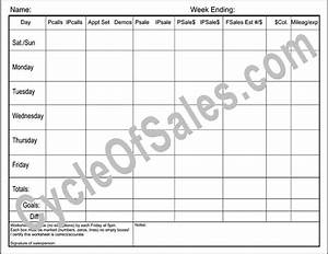 direct sales weekly worksheets With sales call cycle template