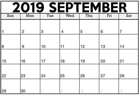 printable calendar september  excel template magic