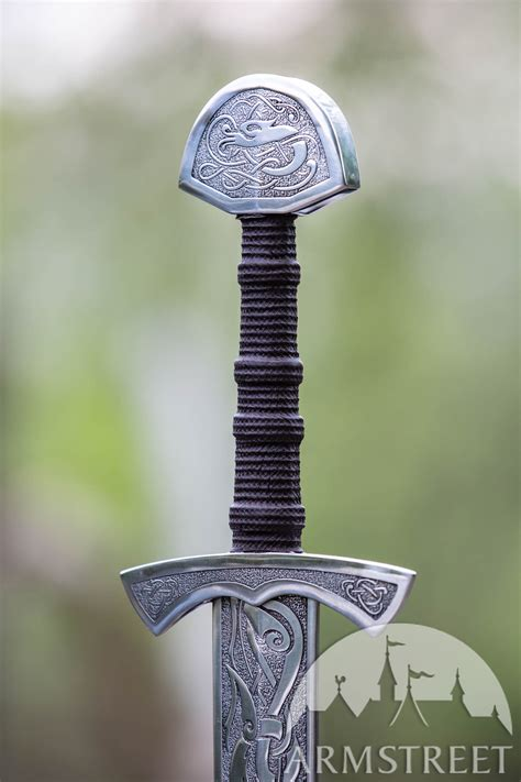 etched stainless steel decorative viking sword  sale