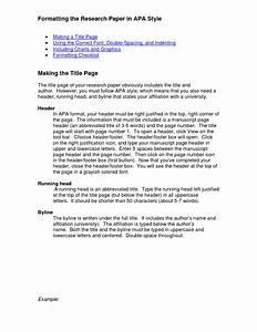 apa research paper format headings paper