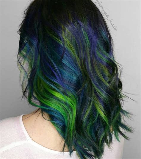 peacock green color top 10 peacock hair colors for hairstylec