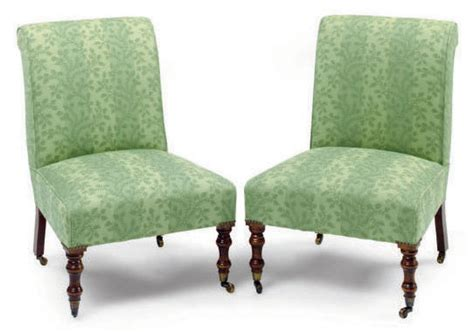 A Pair Of Mahogany And Green Patterned Silk-upholstered Ceramic Tile In Living Room Amazon Curtains Light Decorations For Color Blocking Shades Nantucket Seating Ideas Small Sitting