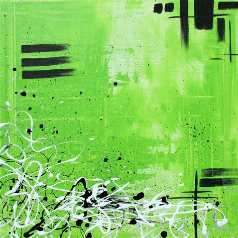 painting with green abstract art original painting green dreams by madart painting by megan duncanson