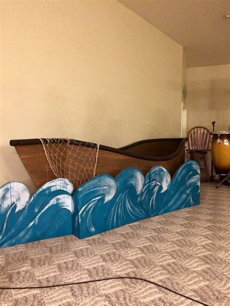 Play Boat by Cardboard Boat For Easter Play Stage Decorations