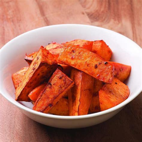 sweet potato recipie chile garlic roasted sweet potatoes recipe eatingwell