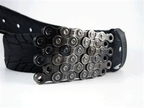 Items Similar To Recycled Bike Chain Belt Buckle- Flat