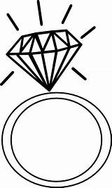 Rings Clip Ring Cliparts Coloring Diamond Engagement Clipart Attribution Forget Link Don sketch template