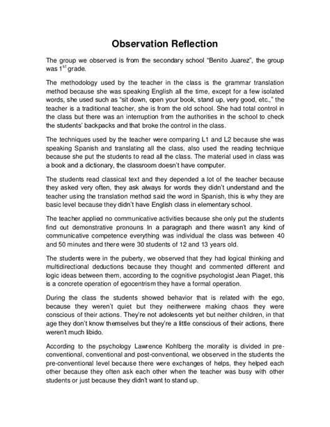 preschool observation essay observation reflection 207