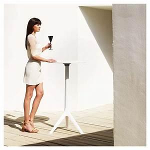 Table De Bar Ronde : mari sol table de bar ronde pliante vondom ~ Teatrodelosmanantiales.com Idées de Décoration