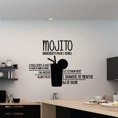 stickers muraux cuisine sticker mojito stickers cuisine ambiance sticker com