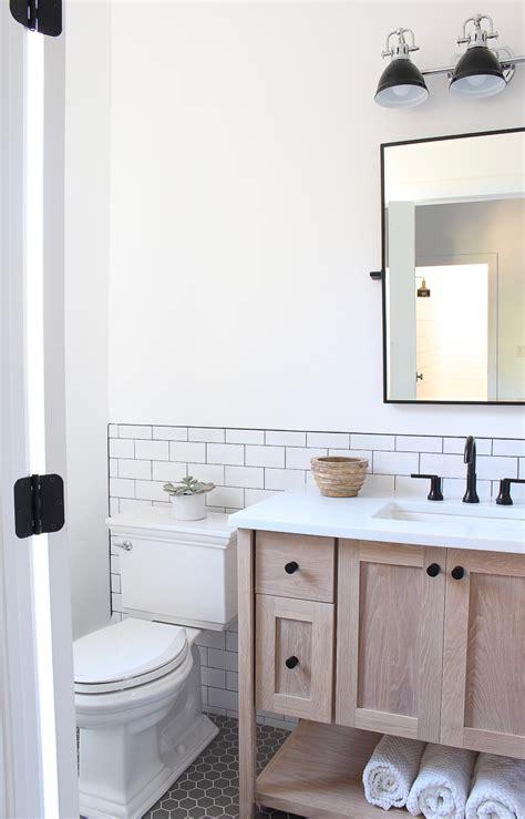 classic white subway tile bathroom designed