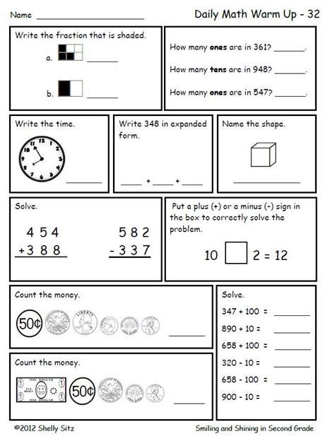 math for second grade second trimester teach 2nd grade math worksheets daily math second
