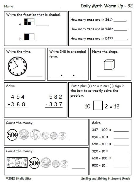 Math For Second Grade (second Trimester)  Counting Money, Mental Maths And Free Worksheets