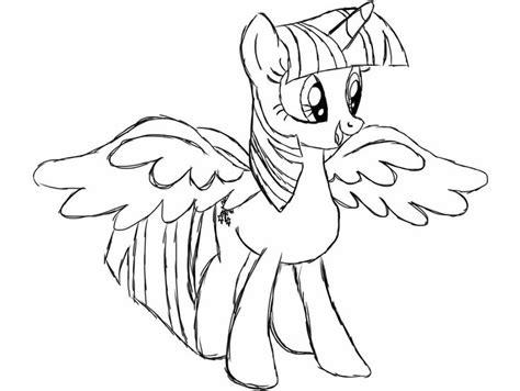 princess twilight sparkle alicorn coloring page ausmalen
