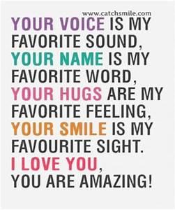 I Love Your Voi... Amazing Feeling Love Quotes