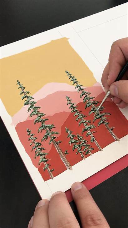Painting Boelter Philip Pine Mountains Trees Paintings