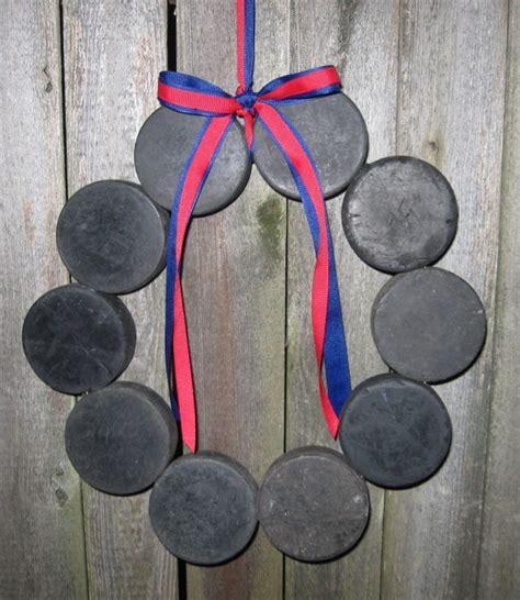 Hockey Puck Wreath