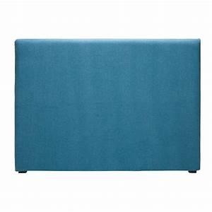 housse de tete 160 de lit en tissu bleu cobalt morphee With housse de tete de lit