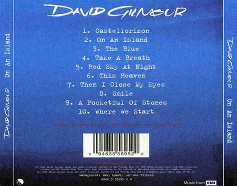 Carátula Trasera De On An Island De David Gilmour