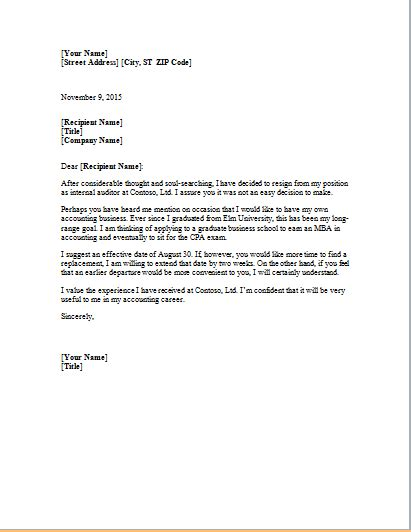 resignation letter template word ms word formal resignation letter template word document