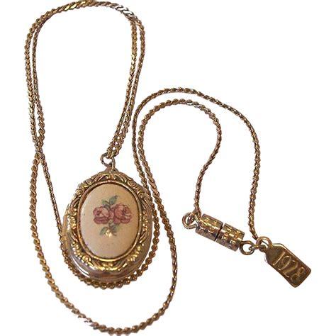 54 inch length 1928 company cameo locket necklace from nansclassics on