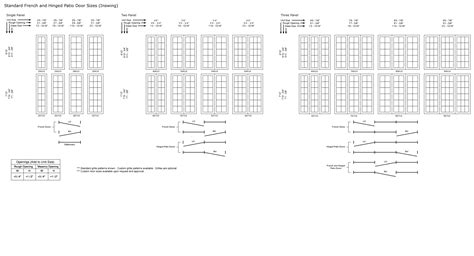 hinged patio door size chart classic windows inc