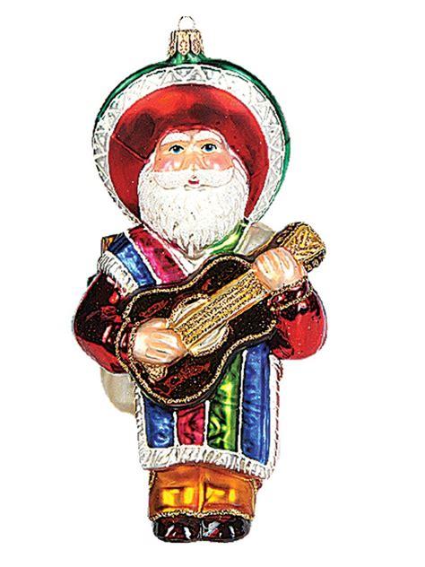 mexican santa claus polish mouth blown glass christmas