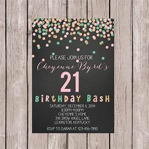 PRINTABLE 21st Birthday Invite 21st Birthday Invitation