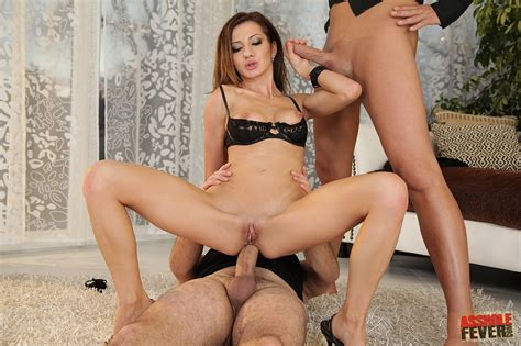 Alice Romain has hard sex with two horny guys - My Pornstar Book