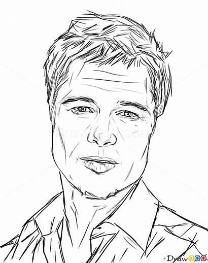 Celebrities Draw Brad Pitt Famous Actors Drawing