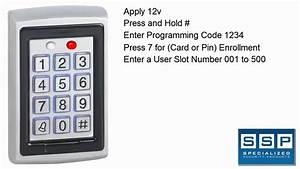 Dg500 Keypad Add And Remove Users
