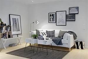 Rustic, Living, Room, Interior, Design, In, Scandinavian, Style