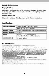 Care  U0026 Maintenance  Specifications  Fcc Information