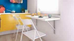 table de cuisine rabattable galerie avec plan de travail With plan de travail mural cuisine