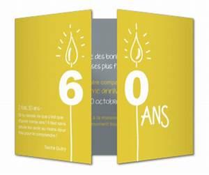 Faire Part Anniversaire 60 Ans : invitation anniversaire 60 ans carte invitation ~ Edinachiropracticcenter.com Idées de Décoration