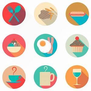 Flat food icons | Oxygenna Web Design | Icon set ...