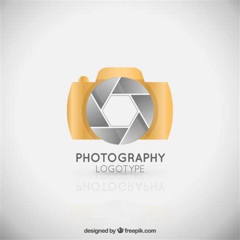 golden elegant camera logo vector