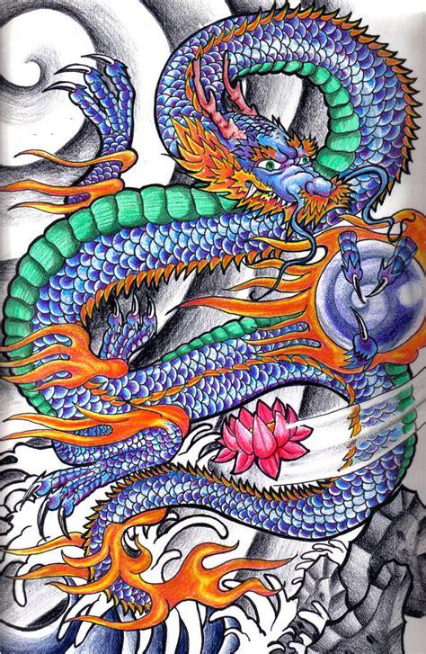 japanese dragon  johnnyfingers  deviantart