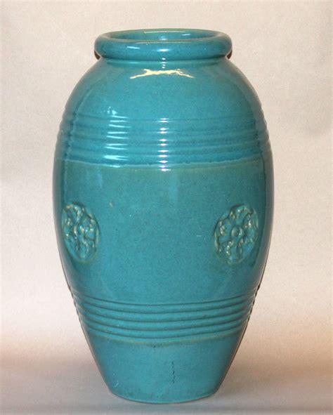 large vintage bauer california pottery garden urn oil jar