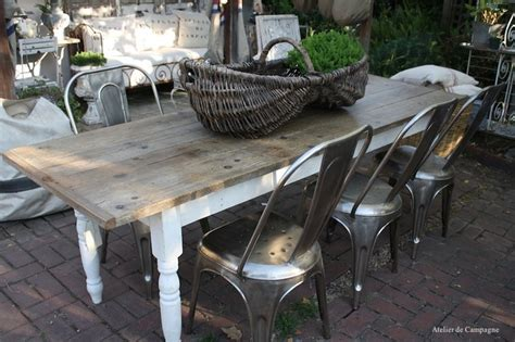 farmhouse table  patio outdoor spaces pinterest