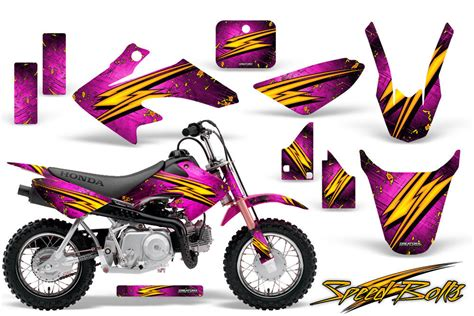Shrouds, front / rear fenders, number plate and swingarm graphics. HONDA CRF 50 GRAPHICS KIT CREATORX DECALS STICKERS SBP   eBay